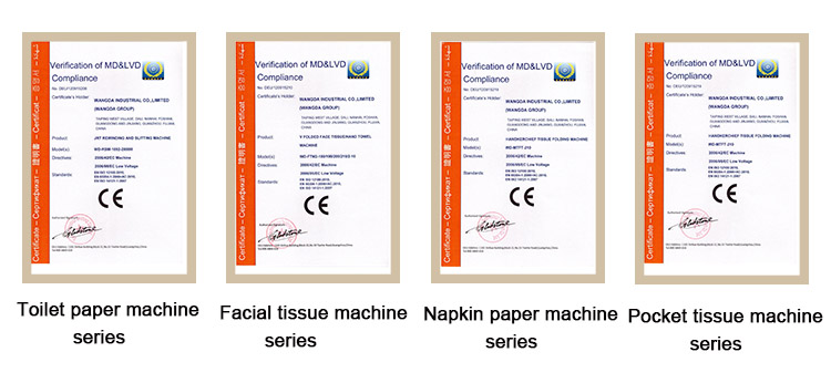CE Certifications of Facial Tissue Packing Machine